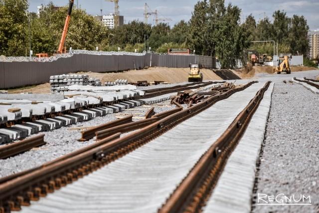 Новые железнодорожные пути, ведущие к кластеру «Некрасовка»