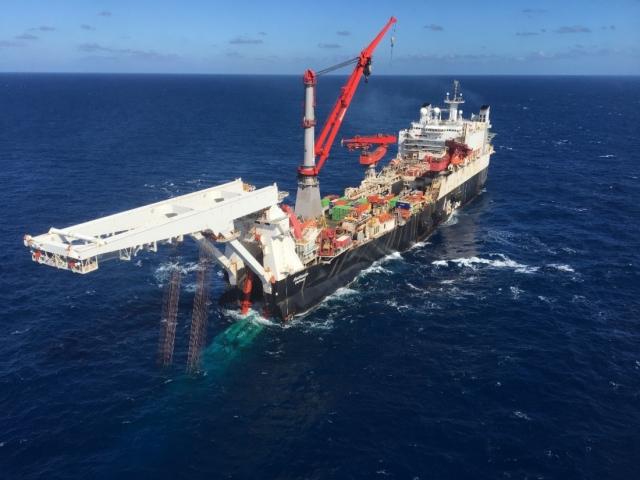 Начаты работы на морском участке «Северного потока — 2»