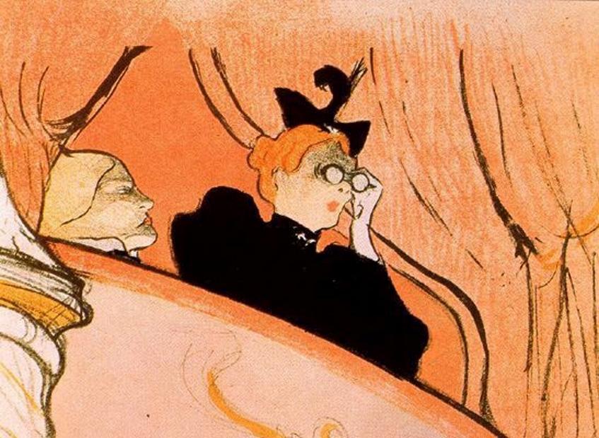 Анри Тулуз-Лотрек. Золотая маска. 1893. фрагмент