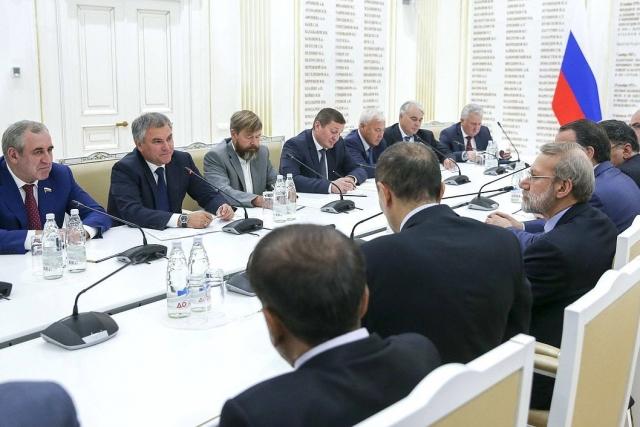 Встреча Председателя Государственной Думы Вячеслава Володина с Председателем Собрания Исламского Совета Исламской Республики Иран Али Лариджани