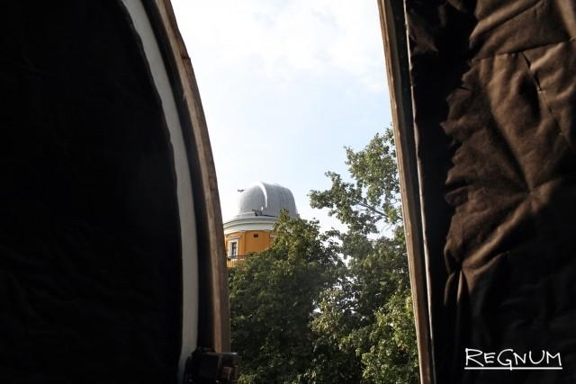 Вид из открытых створ автоматического зеркального астрографа ЗА-320