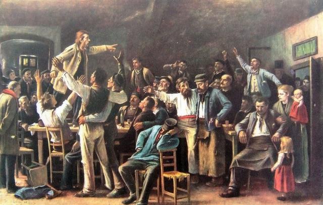 Михай Мункачи. Забастовка. 1895