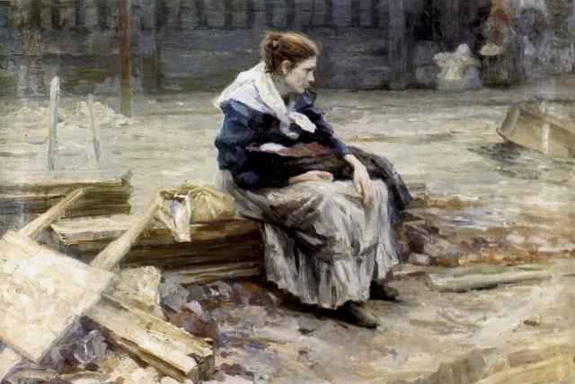 Николай Касаткин. Жена заводского рабочего. 1901