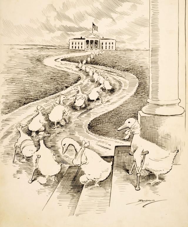 Клиффорд Берримен. Парад «хромых уток». 1915
