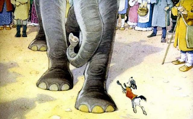 «Ай, Моська! Знать она сильна, что лает на Слона!». Иллюстрация к басне И. А. Крылова «Слон и моська»