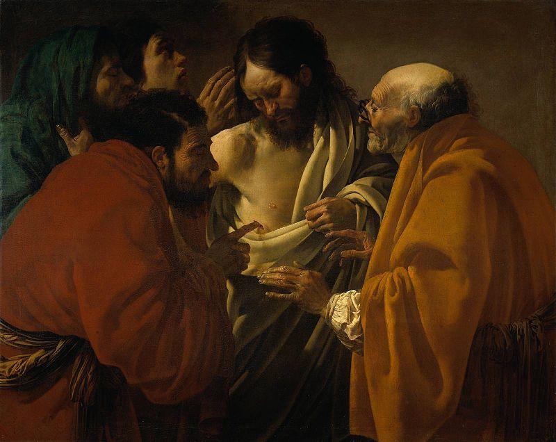 Хендрик Янс Тербрюгген. Неверующий Фома. 1620-е