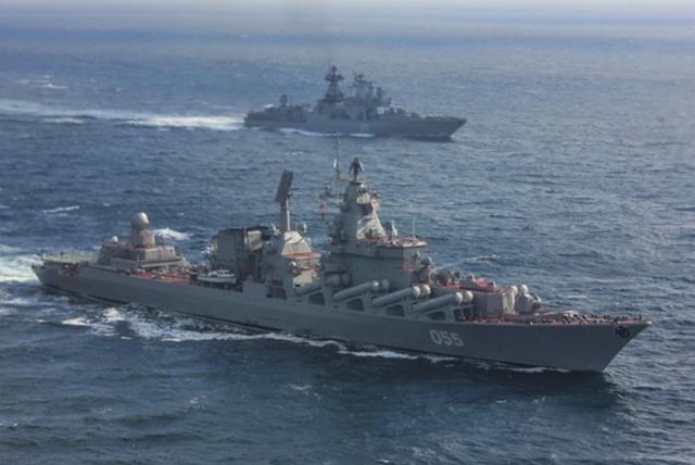 Отряд боевых кораблей России в Средиземном море