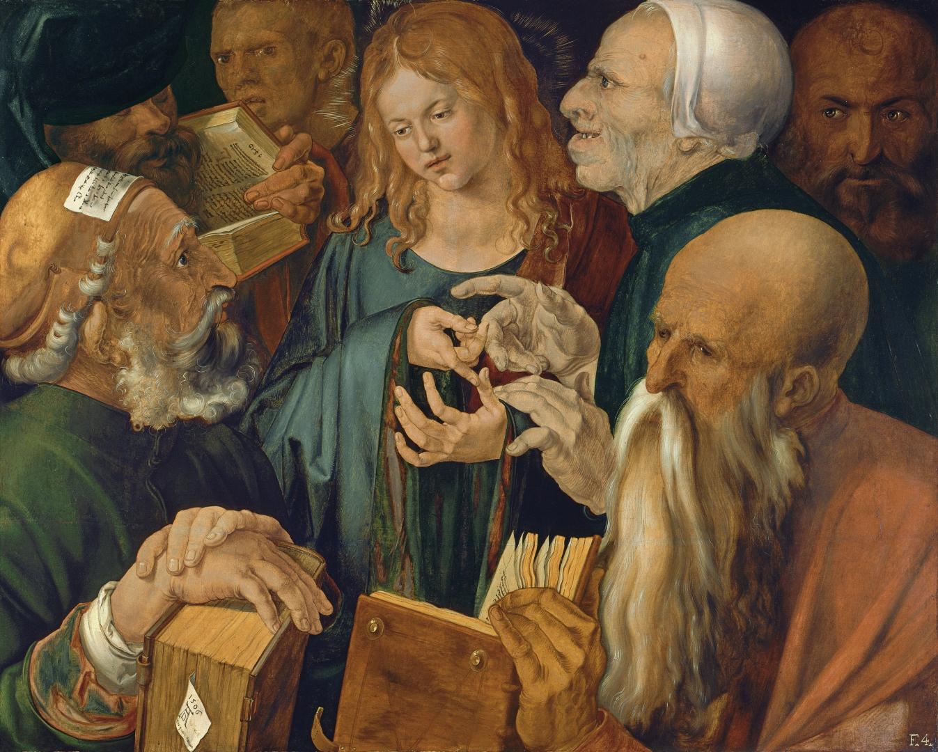 Альбрехт Дюрер. Христос среди учителей. 1506