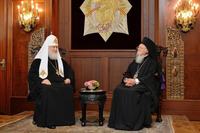 Патриархи Московский и всея Руси Кирилл и Константинопольский Варфоломей