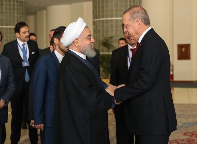 Реджепа Эрдогана встречают в Тегеране