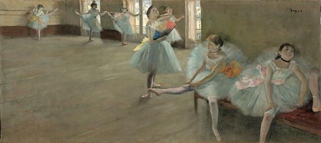 Эдгар Дега. Балерины в танцевальном классе- одно из многих произведений художника. 1880