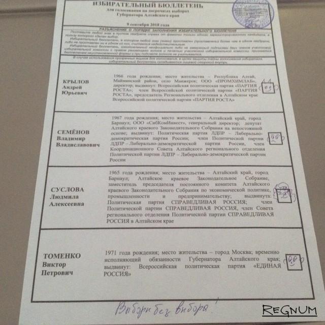 Выборы в Сибири: пора вернуть графу «Против всех»?