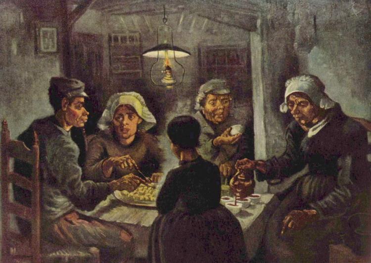 Винсент Ван Гог. Едоки картофеля. 1885
