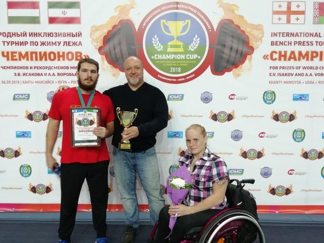 Паралимпийский тяжелоатлет из Петербурга взял «бронзу» на «Кубке Чемпионов»