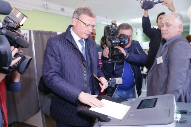 Александр Бурков на выборах в Омской области