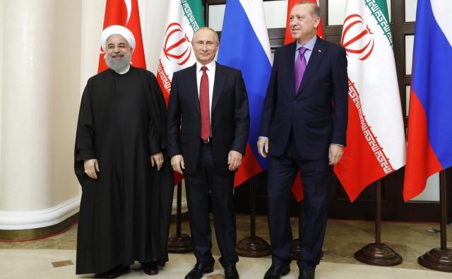Хасан Рухани, Владимир Путин и Реджеп Тайип Эрдоган