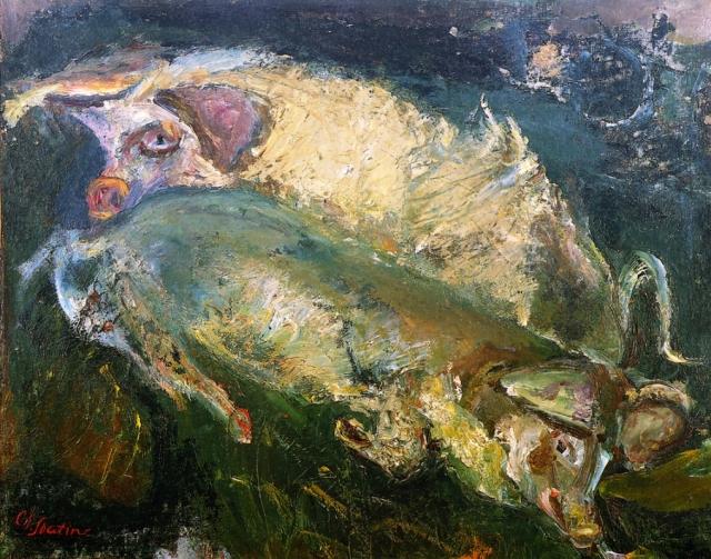 Хаим Сутин. Свиньи. 1940