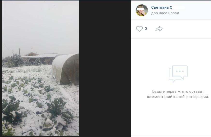 Снег в Красноярском крае