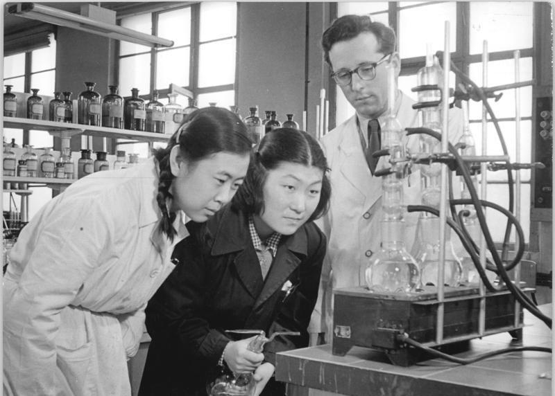 Молодые китайские специалисты служебной командировке в ГДР. 1955