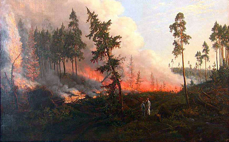 Винцентас Дмахаускас Пожар в лесу 1860