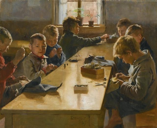 Альберт Эдельфельт. Детский рабочий дом, Хельсинки. 1885