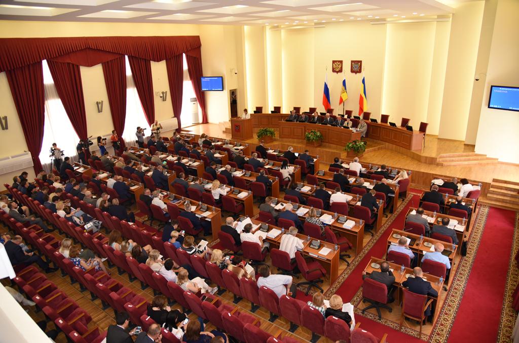 Заседание в Законодательном собрании Ростовской области