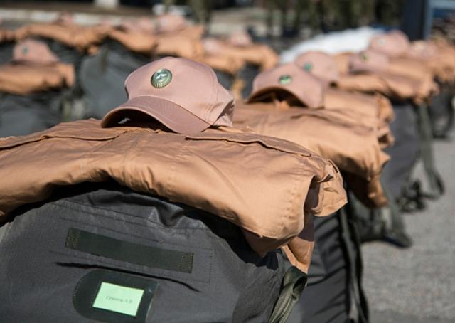 Амуниция российских военных. К передислокации готовы