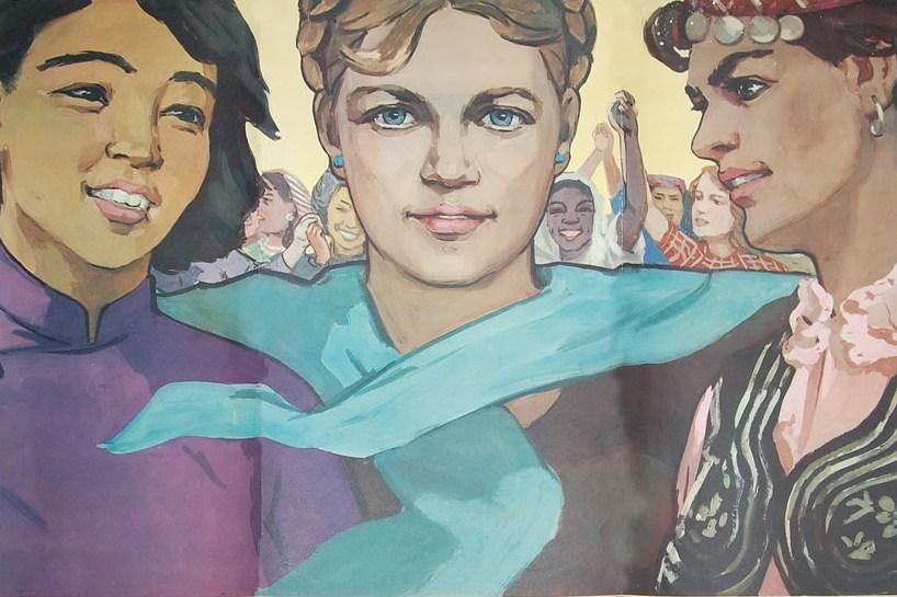Нина Ватолина. Женщины мира объединяйтесь в борьбе за мир, за жизнь, за счастье! 1952