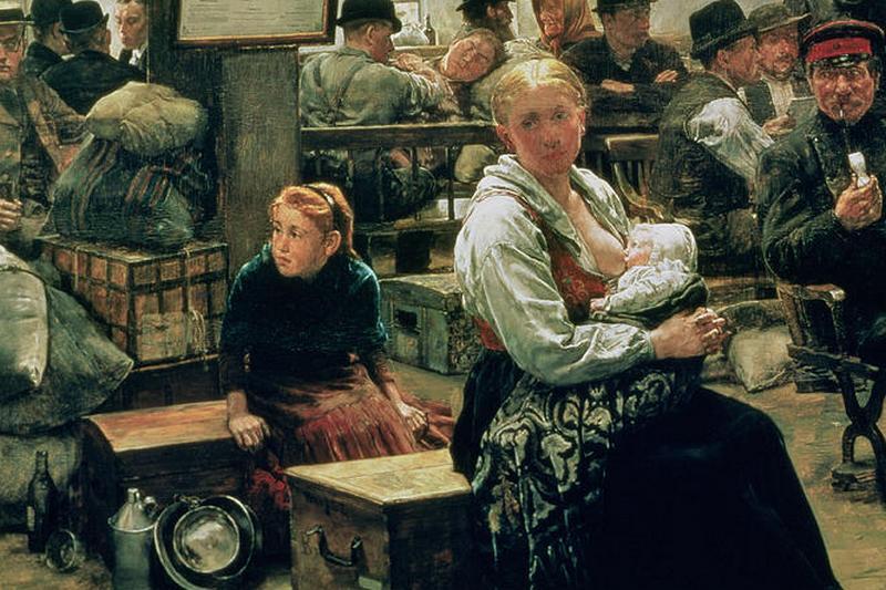 Чарльз Фредерик Ульрих. На земле обетованной (фрагмент). 1884