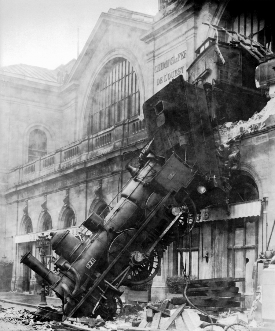 Крушение поезда на вокзале Монпарнас, Париж. 1895