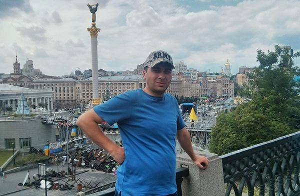 Давит Санасарян на киевском майдане