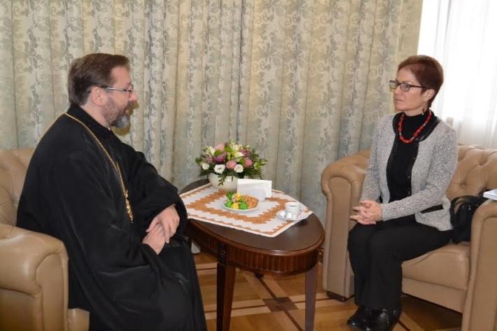 Мари Йованович и Святослав Шевчук