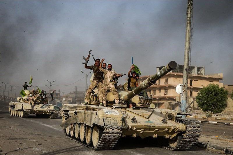 Шиитские бойцы в Ираке
