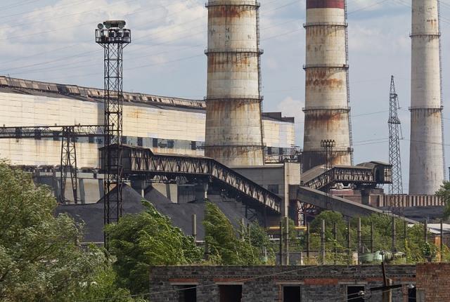 Бурштынская ТЭС. Ивано-Франковская область, Украина