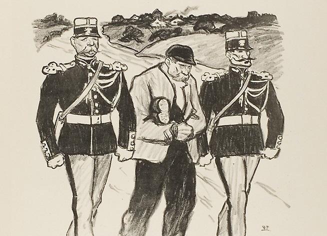 Теофиль-Александр Стейнлен. Без гроша за душой. Изгнание банкрота (фрагмент). 1894