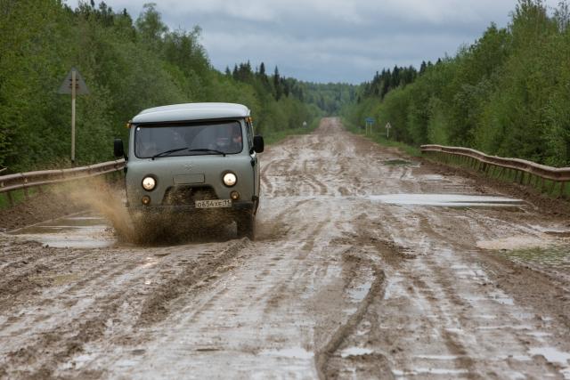 Дорога к селу Керчомью