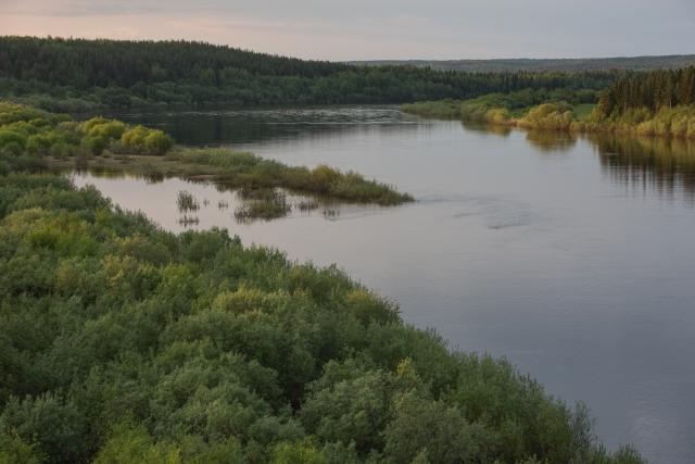 Река Вычегда, Усть-Куломский район, республика Коми