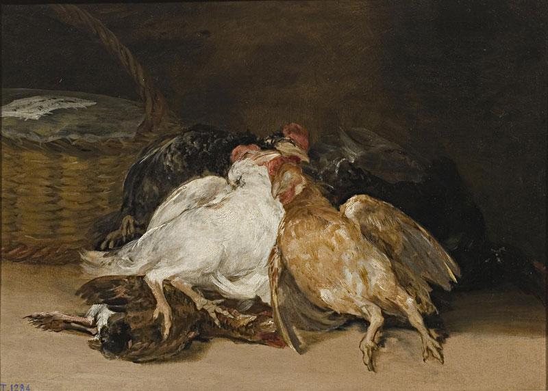 Франциско Гойя. Мертвые птицы. 1810-1812