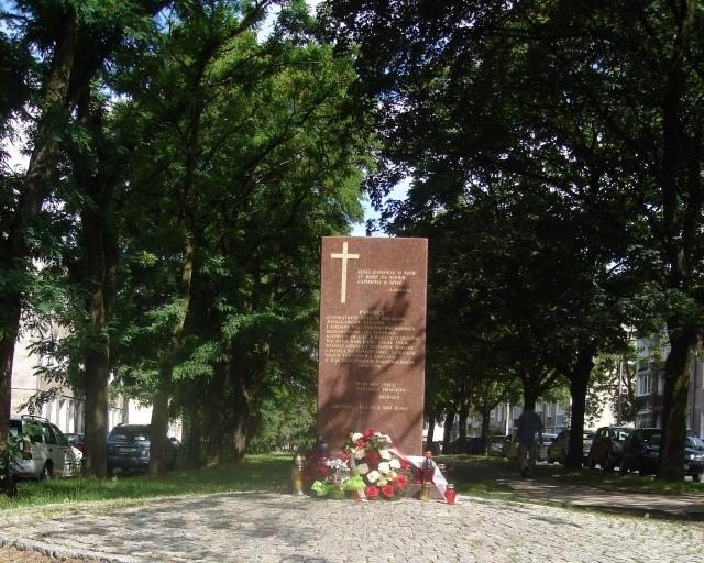 Монумент жертвам Волынской резни 1943 года. Гданьск, Польша
