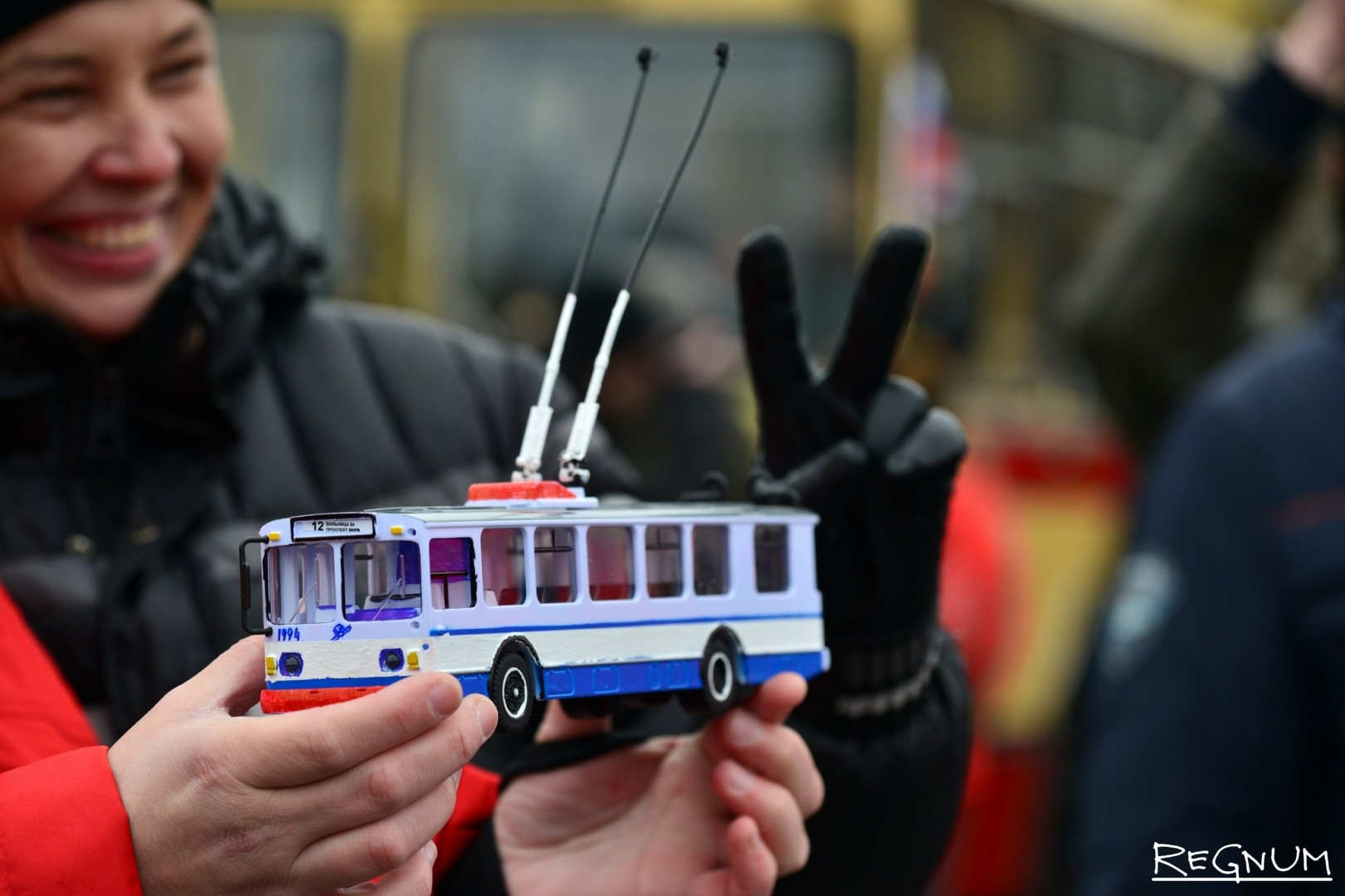 Макет троллейбуса