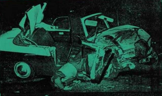 Энди Уорхол. Авария зеленой машины (фрагмент). 1963
