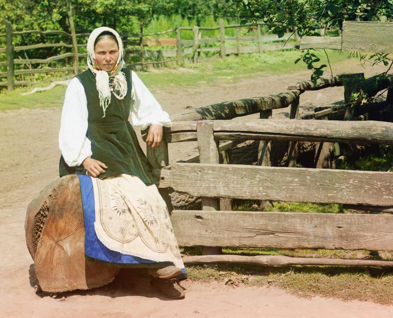 Сергей Прокудин-Горский. Украина. Крестьянка в Малоросии (фото). 1914 г