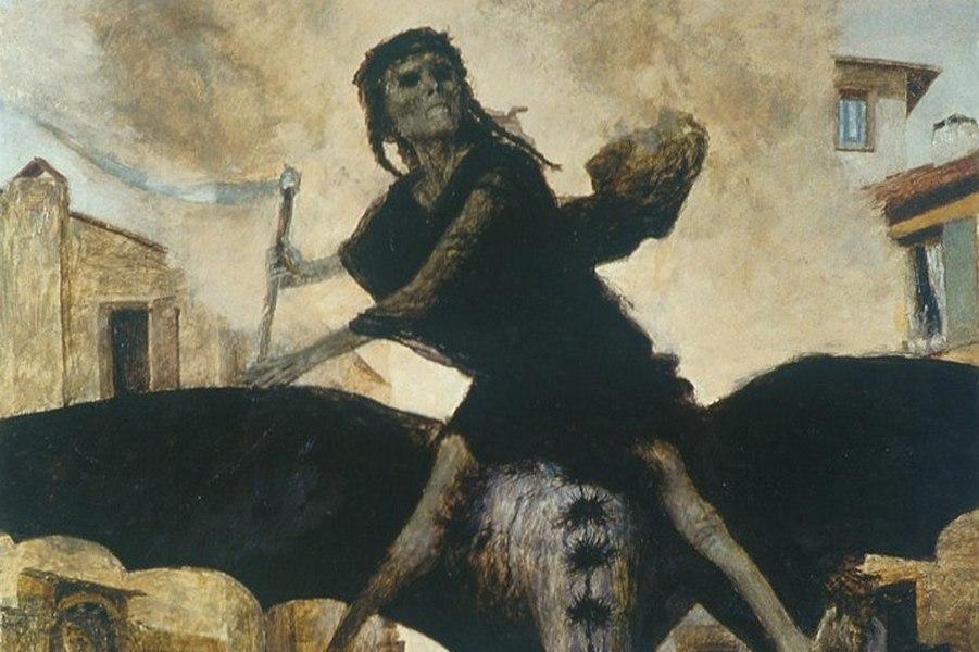 Бёклин Арнольд. Чума (фрагмент). 1898