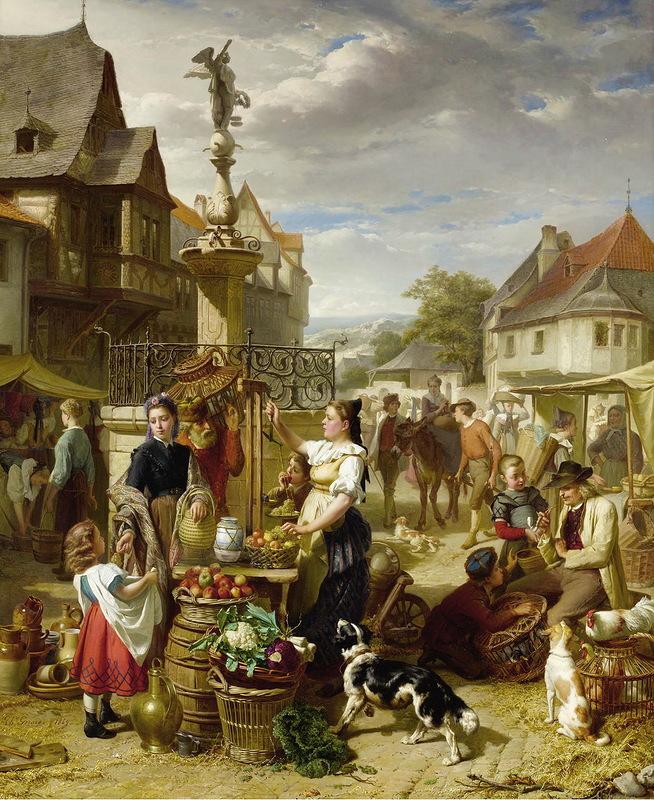 Теодор Жерар. Базарный день. XIX век
