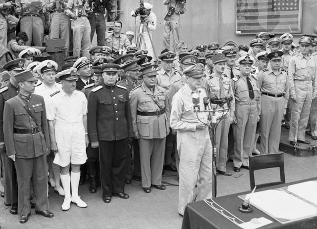 Подписание акта о капитуляции Японии 2 сентября 1945 года