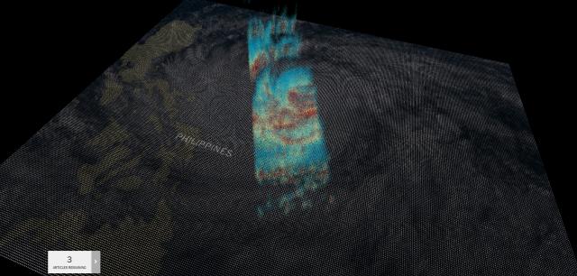 NASA показало 3D-снимок мощного тайфуна «Мангхут»