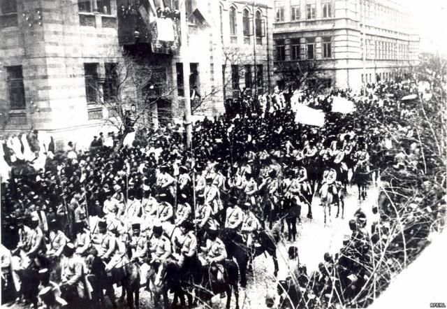 Турецкая армия входит в Баку. 1918