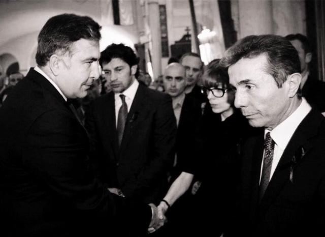 Михаил Саакашвили и Бидзина Иванишвили. 2012