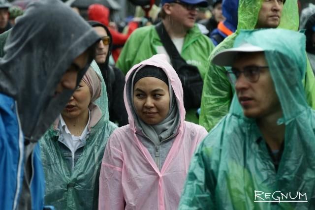 Дождь застал участников велопарада