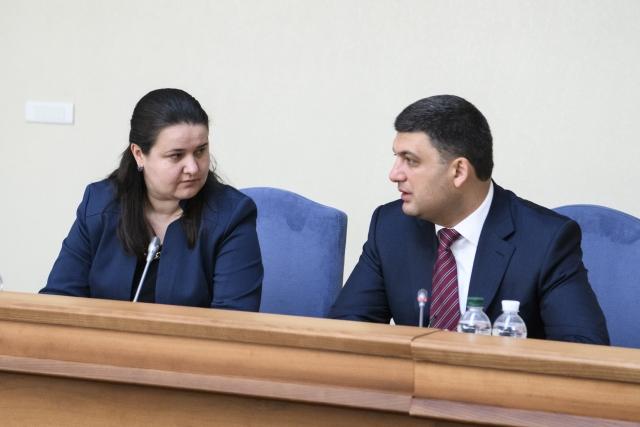 Оксана Маркарова и Владимир Гройсман